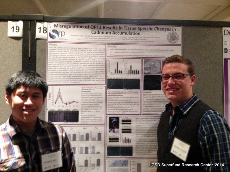 Andrew Cooper presents poster at the SRP 2014 Annual Meeting