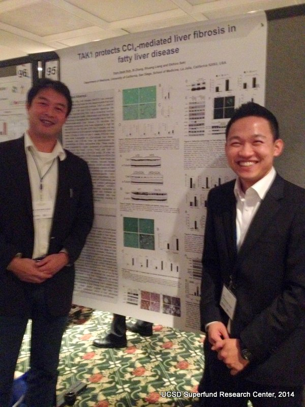Drs. Eki Seki and Yoonseok Noh present poster at the SRP 2014 Annual Meeting