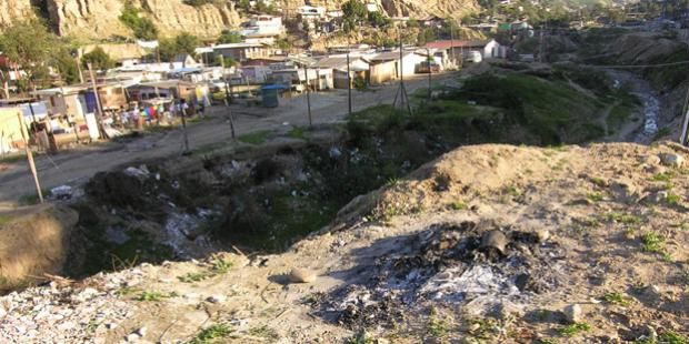A Burn site in Tijuana, Mexico