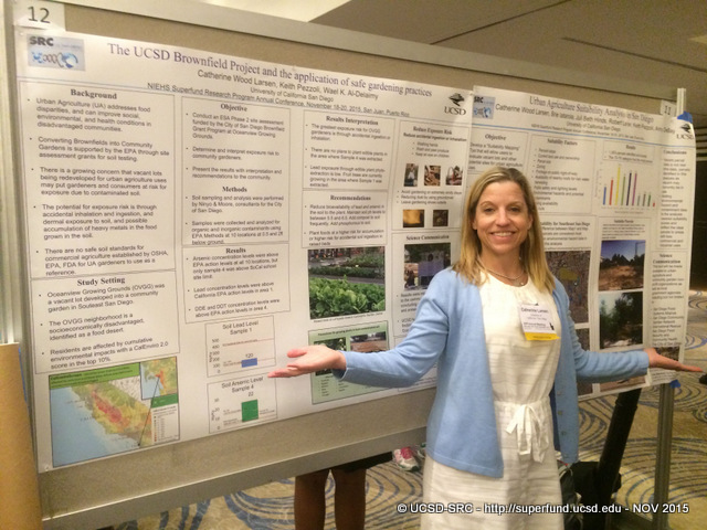 Cathi Larsen presents two posters at SRP 15 MTG