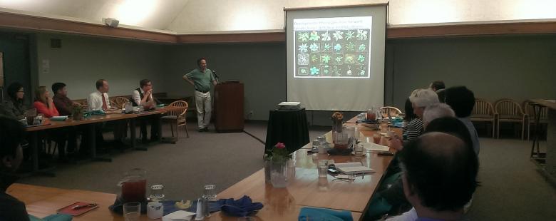 Dr. Schroeder presenting research